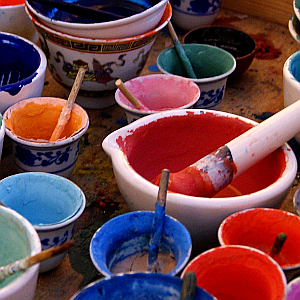 Thangka Paint Pots